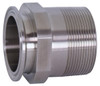Dixon Sanitary 21MP Series 316L Stainless 4 in. Clamp x Male NPT Adapters - 4 in. - 3 in.