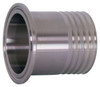 Dixon Sanitary 14MPHR Series 316L Stainless Hose Clamp x Rubber Hose Adapters - 3 in. - 3 in.