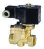 Jefferson Valves 1390 Series 2-Way Brass Explosion Proof Solenoid Valves - Normally Open - 1/4 in. - 120/60 VAC 13 W - 0.94 - 1.5/150
