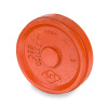 Smith Cooper 8 in. Grooved Cap - Orange Paint Coating