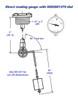 Rochester Gauges 6580 Series 2 in. Adjustable Liquid Level Top Mounting Tank Gauge