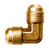 """Gas-Flo Brass SAE 45° Flare 90° Elbow - Tube to Tube Fitting - 3/8"""" - 1,000"""