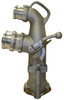 Dixon Bayco 4 in. Inlet Vapor Recovery Coaxial Elbow w/ 3 in. Vapor Outlet - 23 3/4 in. H