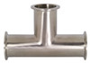 Dixon Sanitary B7MP Series 304 Stainless Clamp Tees
