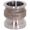 Dixon Sanitary 316 Stainless Cam & Groove Adapter X Clamp Ends