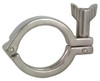Dixon Sanitary 13MHHM-SN Series Single Pin Heavy Duty Clamps w/ Serrated Wing Nut