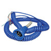 Civacon Blue Optic Plug & Coiled Cord w/ 3 J-Slot Pins & 6 Contact Pins for Scully® Compatible Systems