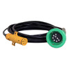 Civacon Green Thermistor Plug, Straight Cord, and Yellow Break-Away Plug w/ 2 J Slot & 8 Contact Pins