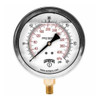 Winters PFQ Series 2 1/2 in. Stainless Steel Liquid Filled Gauge w/ Brass Internals & 1/4 in. Back Mount