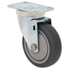 """4 x 1 1/4"""" Light-Medium Duty Swivel Caster, Gray Thermo-Pro™ Rubber w/Dust Cover , Plate Mount"""