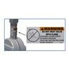 Betts ANSI Flange x ANSI Flange Steel Pneumatic Operated Sliding Valve w/ 316 SS Stem & Gates