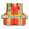 343 Fire V12-P Premium High Contrast FR 5-Point Break-Away Vests, Orange w/Yellow & Silver Striping