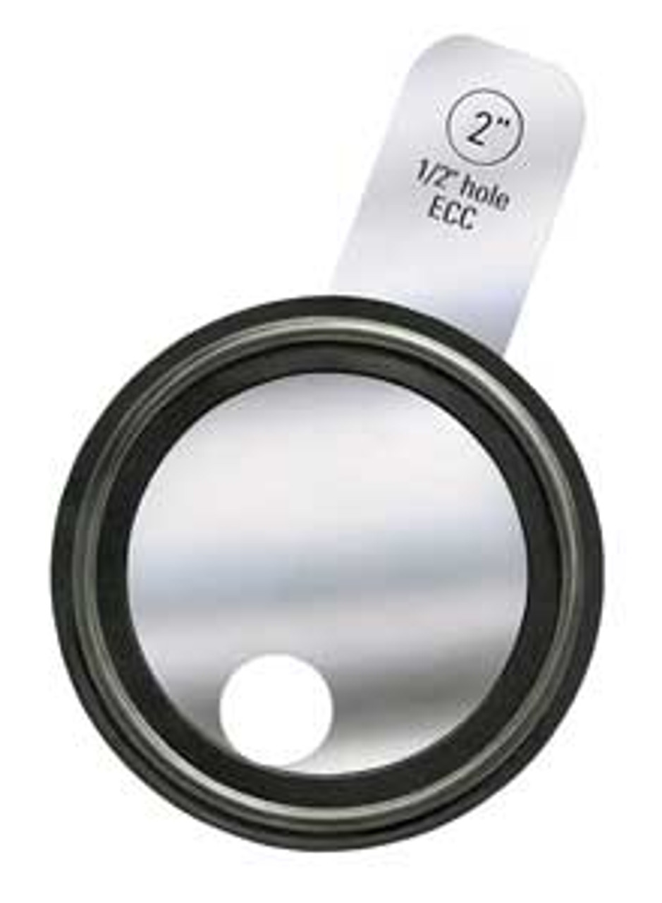 Rubber Fab 1 1/2 in  Tri-Clamp® Orifice Plate Gaskets - Tabbed Style  Platinum Silicone - 1 1/2 in  - Platinum Silicone