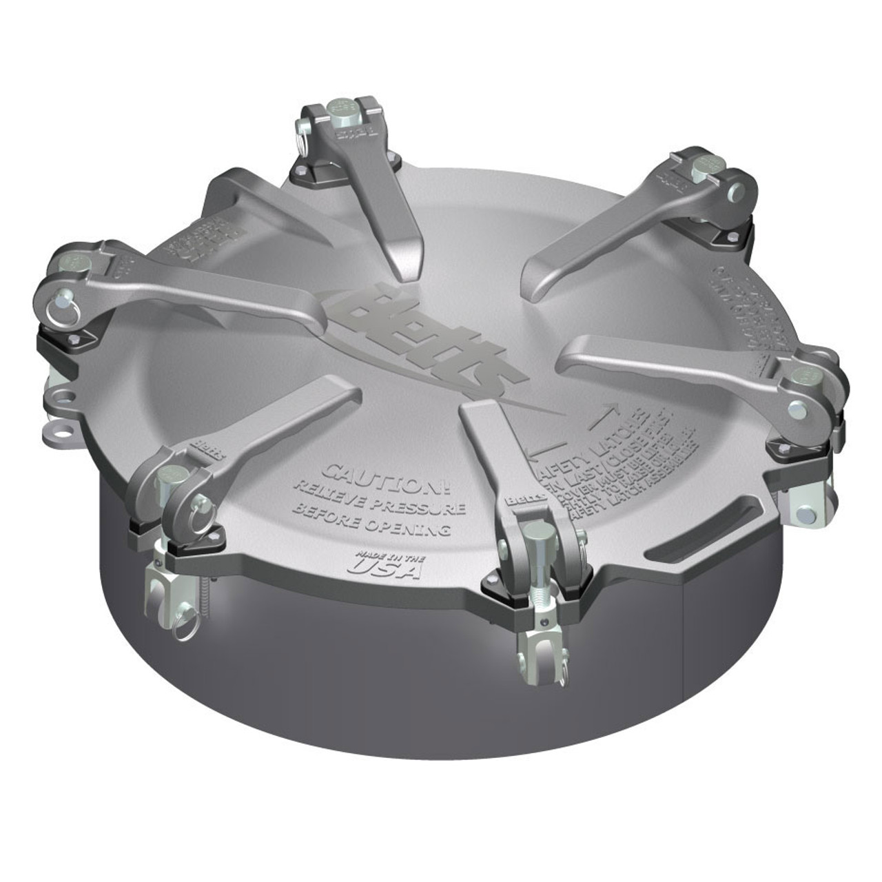 Betts 20 in  Aluminum Cam-Latch Manholes w/ Stainless Steel Hardware