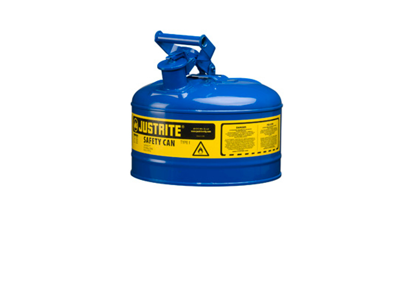 JUSTRITE 10218 Plunger Can,1//2 Gal.,Steel,Yellow