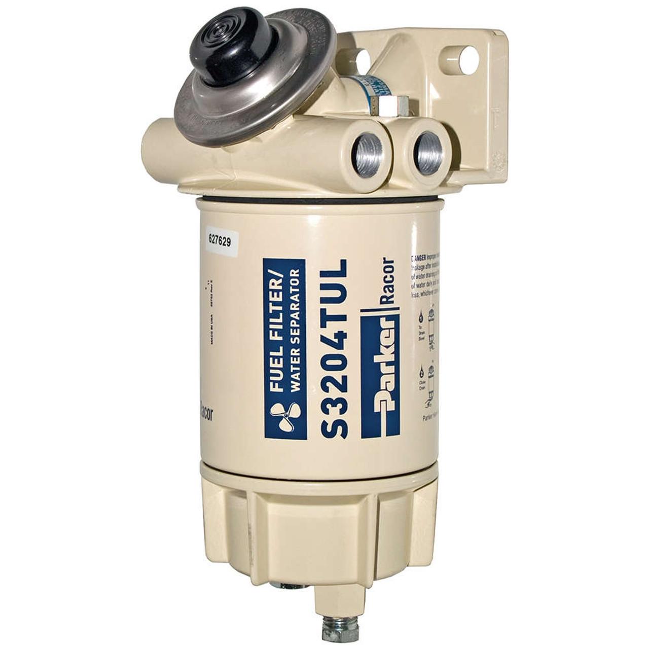 Racor Aquabloc Marine 3/8 in. 45 GPH Spin-On Diesel Fuel Filter Water  Separator Assembly - 6 Qty - John M. Ellsworth Co. Inc.John M. Ellsworth