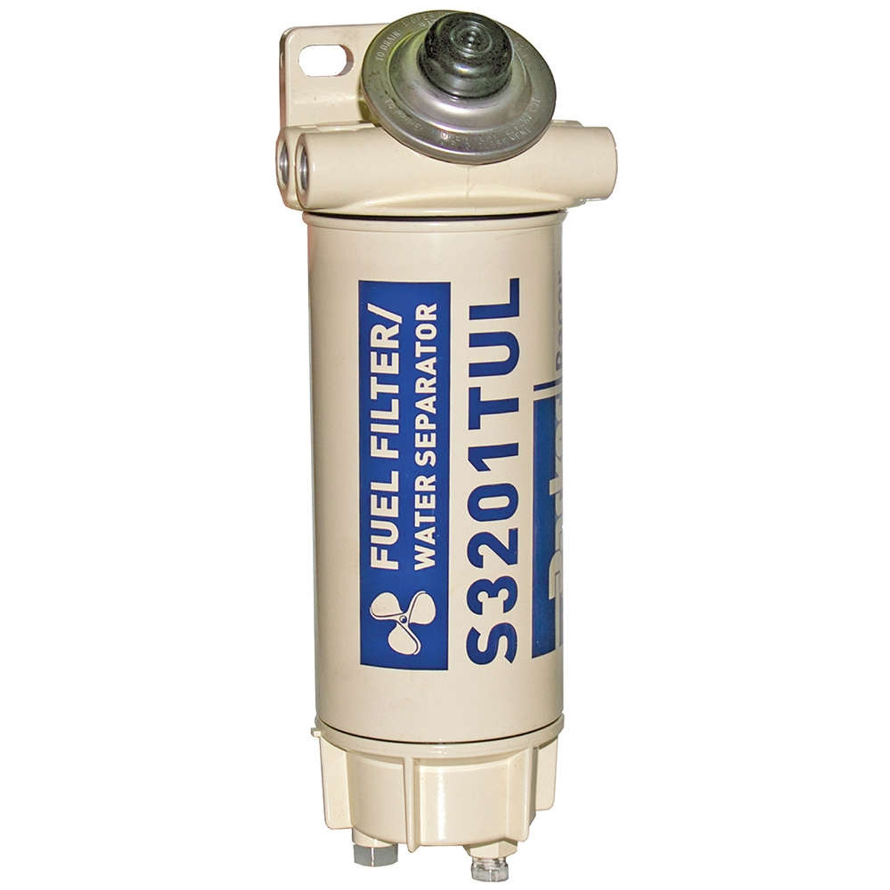 racor aquabloc marine 3/4 in  120 gph spin-on diesel fuel filter water  separator assembly - 6 qty - john m  ellsworth co  inc