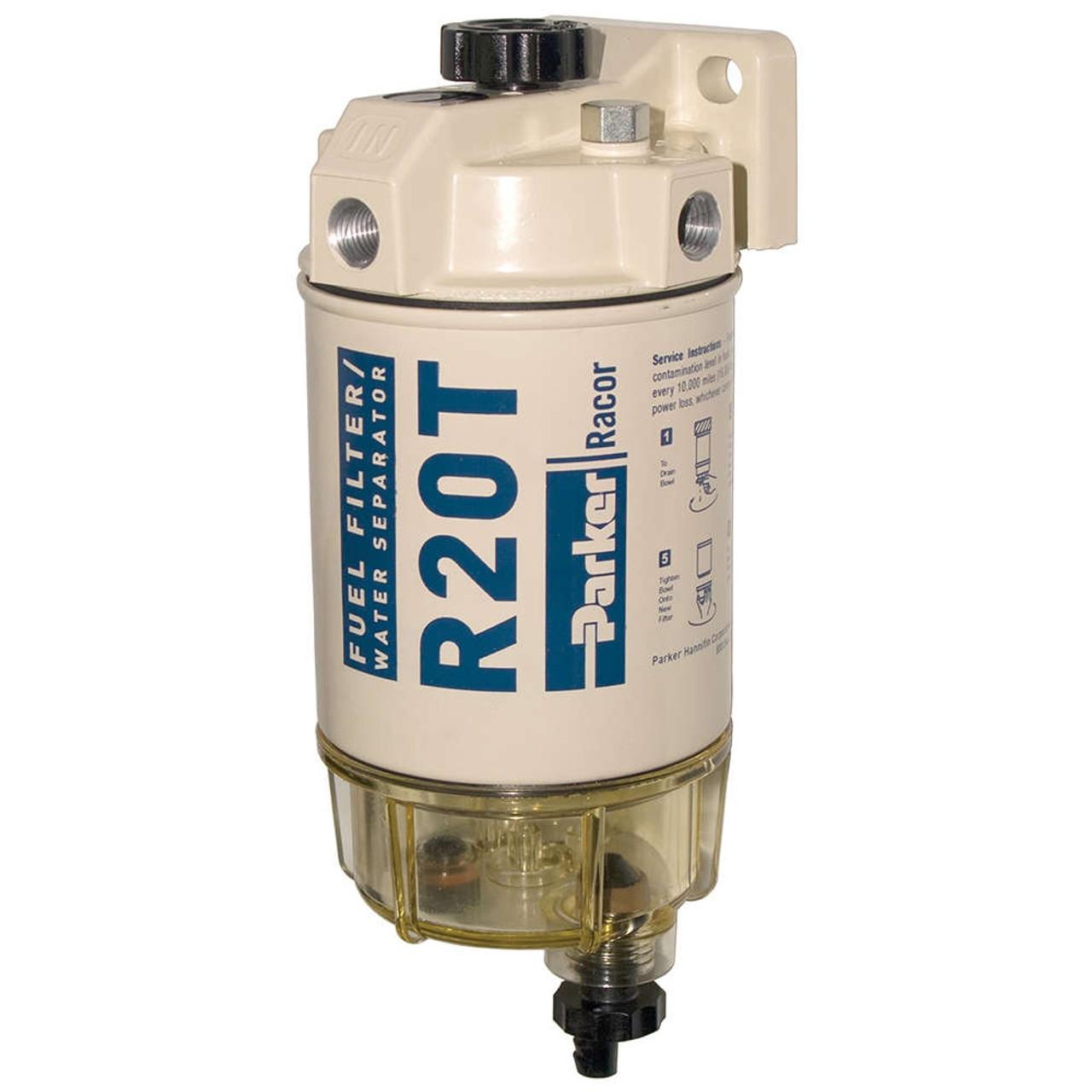 Racor 200 Series 30 GPH Low Flow Diesel Fuel Filter/Water Separator on