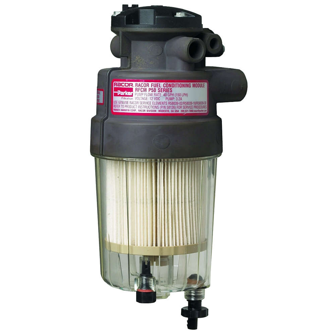 Racor P Series 50 GPH Diesel Integrated Fuel Filter/Water Separator on