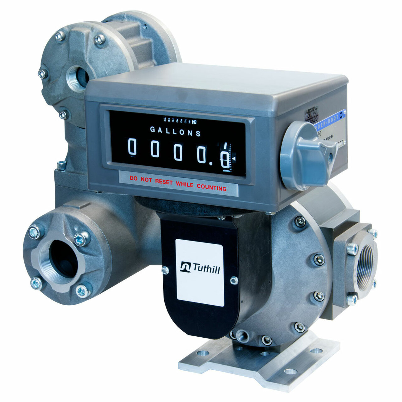 Tuthill TS Series 3 in  NPT Oval Gear Meter w/ Mechanical Register  (Liters), Strainer, and Air Eliminator