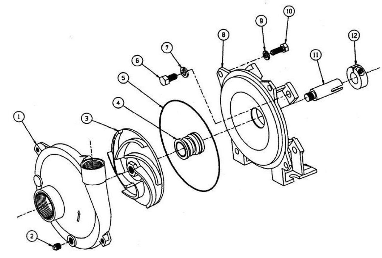 Mp Pumps Chemflo Model 1 2 3 4 Parts