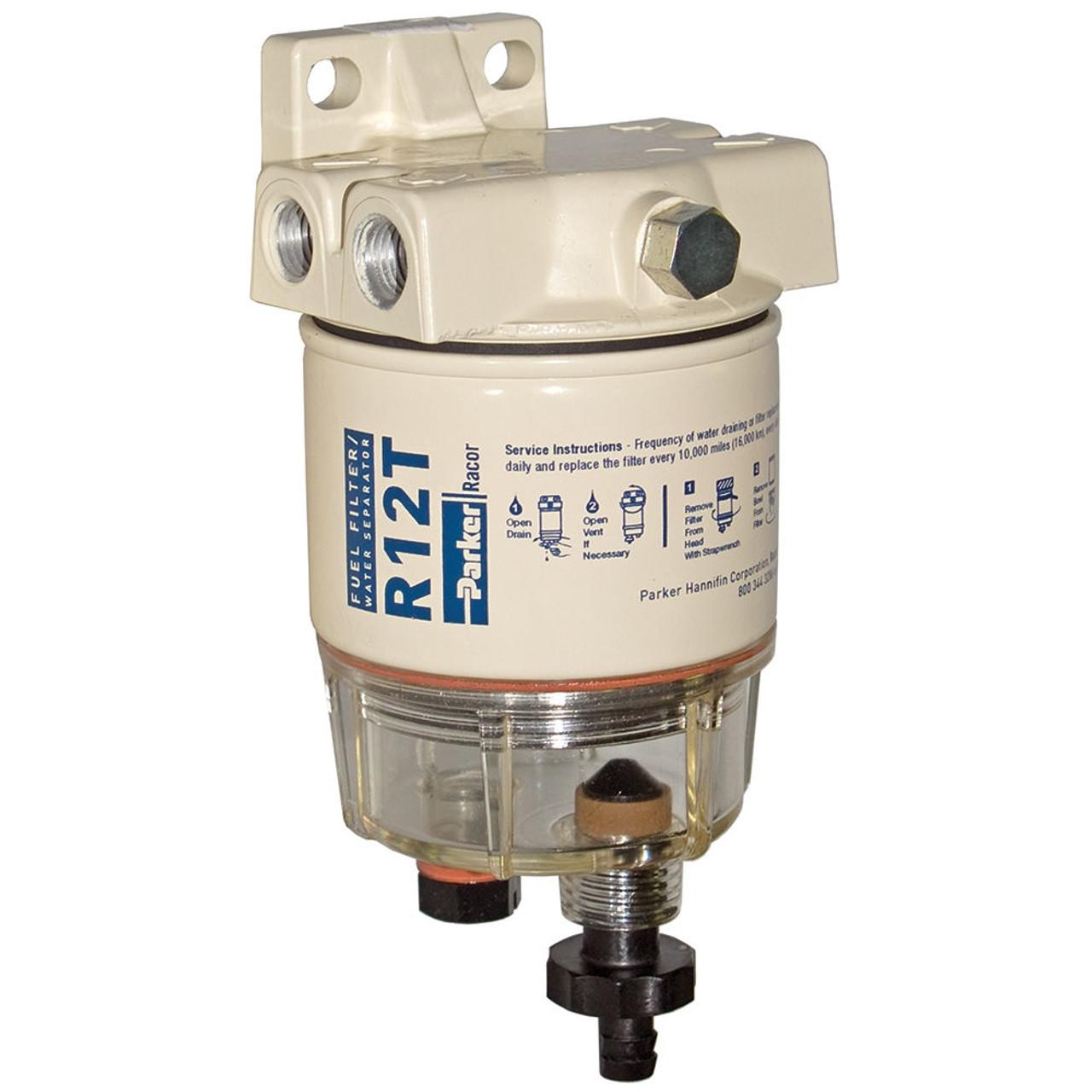 Racor 120a low flow fuel filter water separator filter assembly 10 fuel tank fuel filter racor 120a low flow fuel filter water separator filter assembly 10 micron john m ellsworth co inc