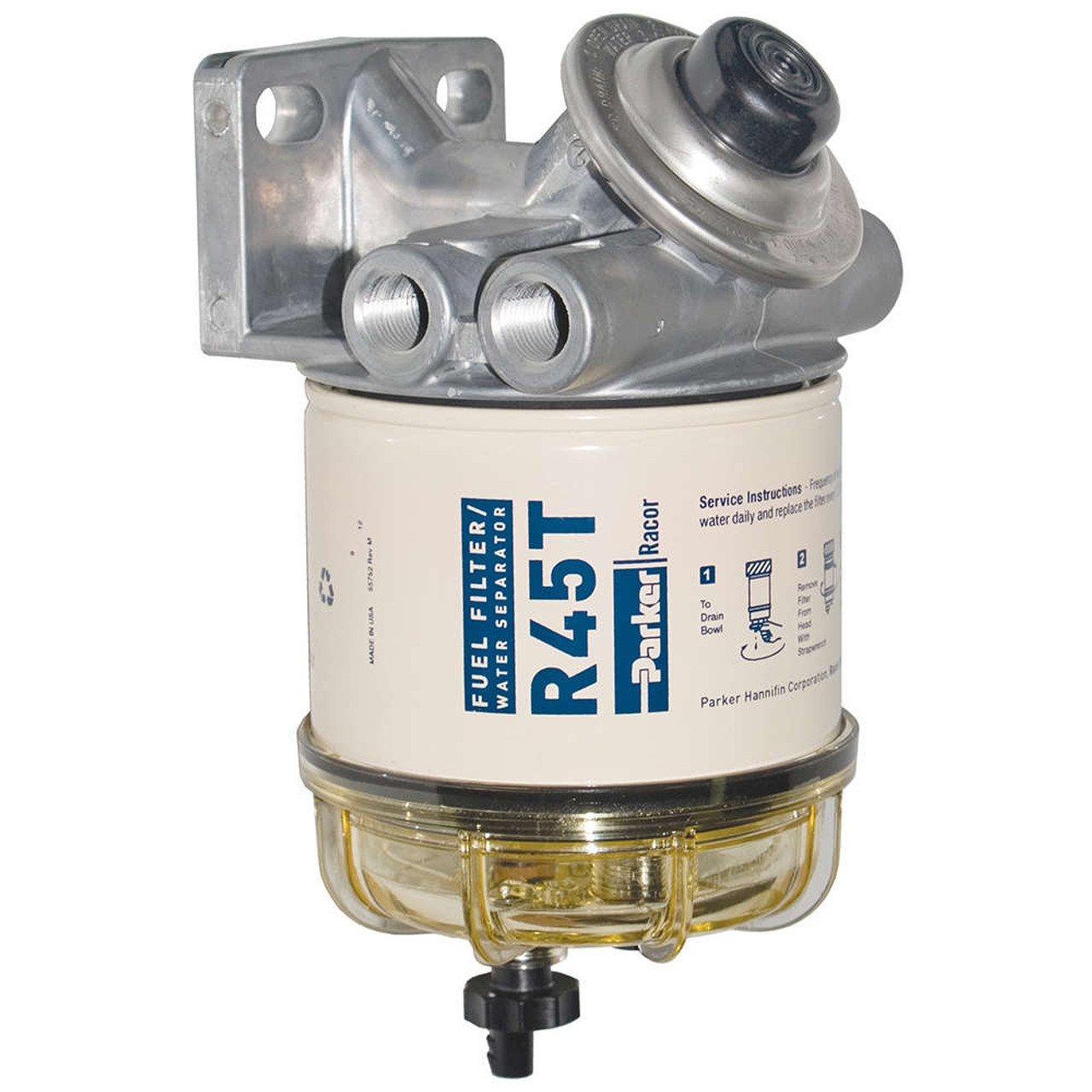 racor 400 series 45 gph diesel spin-on fuel filter - 10 micron - 6
