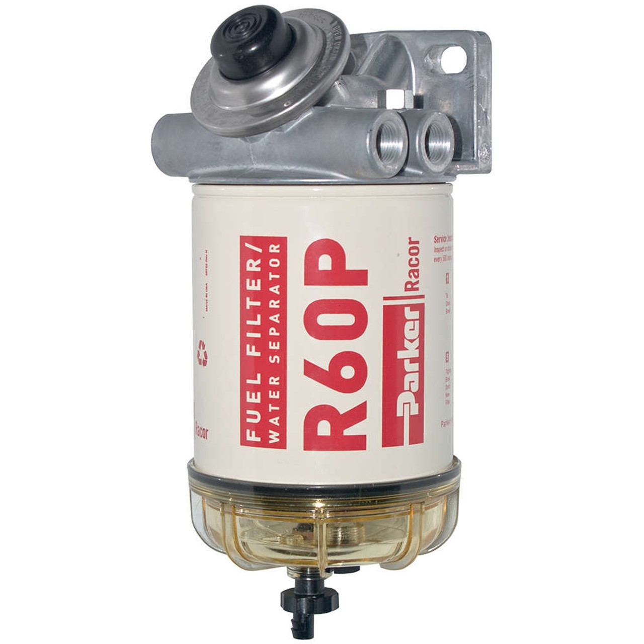 racor 400 series 60 gph diesel spin-on fuel filter - 30 micron - 6