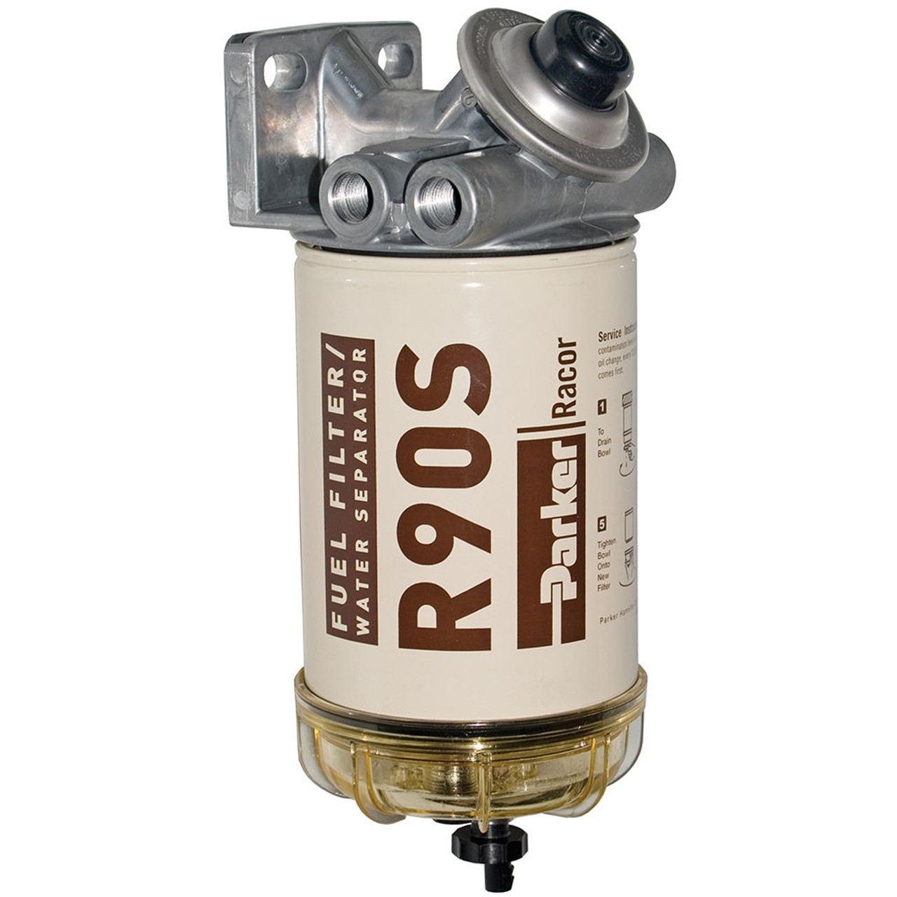 Racor 400 Series 90 GPH sel Spin-On Fuel Filter - 2 Micron - 6 ...