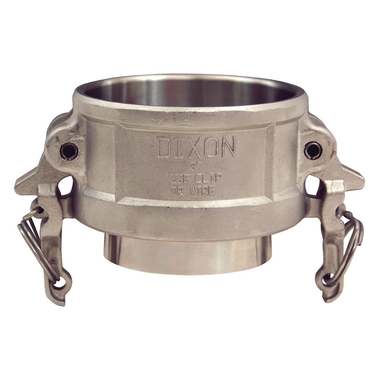 Cam Tube dixon sanitary boss-lock 316ss cam & groove coupler x butt weld to tube end