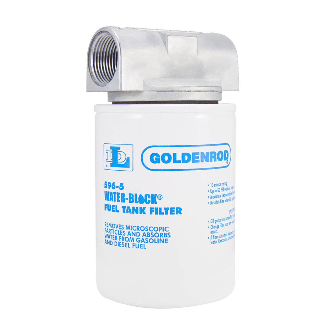 Goldenrod 596 Series Water-Block Spin-On Fuel Filter - 10 Micron - John M.  Ellsworth Co. Inc.   Spin On Fuel Filter      Jmesales