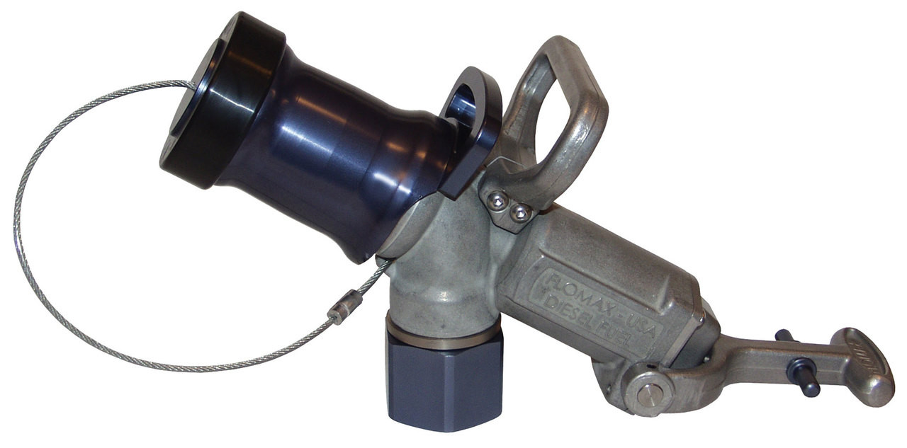 Dixon FN600 Aluminum Dry Disconnect Flomax Diesel Fuel Nozzle with Dog Latch and Sealing Plug 1-1//2 NPT Female