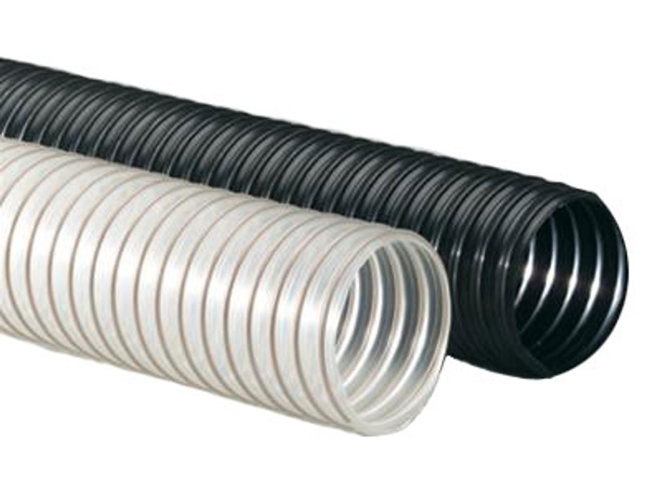 "Flexadux PV R-3 4/"" x 25/' PVC Hose Clear Flexible Food Grade Hose"