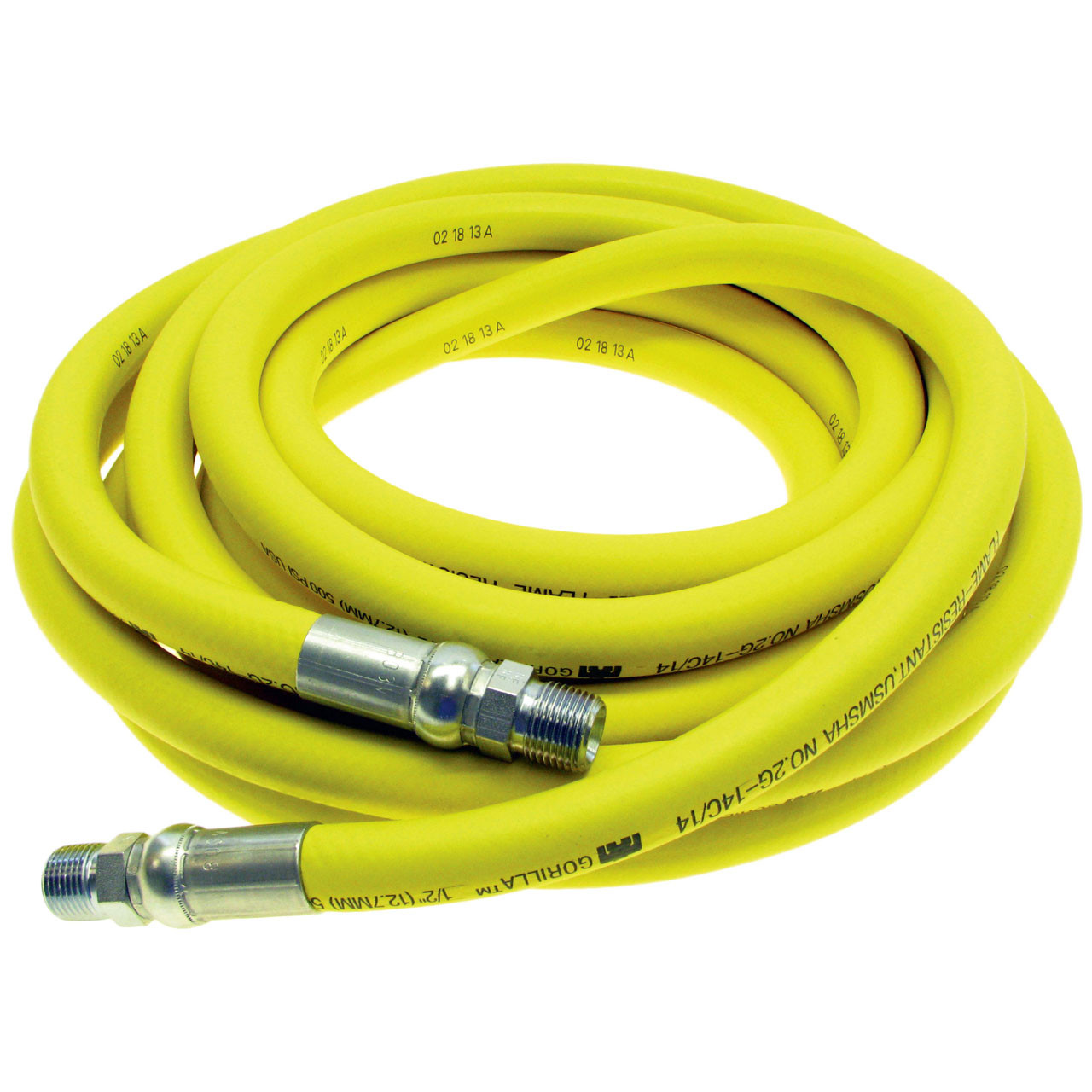 Continental ContiTech 3/8 in  Gorilla 500 PSI Air Hose Assemblies w/  Crimped Male NPT Fittings