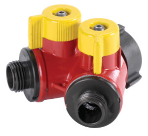 "2 Way BiPok Wildland Valve 1.5"" F NST Inlet X (2) 1.0"" M NPSH Outlet - 1.5"" - 1.0"" - Short"