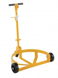 Vestil Lo-Profile Drum Caddy with Rubber Wheels
