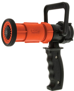 Dixon 1 1/2 in. NH (NST) Orange Thermoplastic Ball Shutoff Nozzle 70 GPM