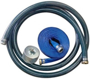 Kuriyama PVC Water Suction & Discharge Hose w/Strainer & Pin Lugs - 2 in.