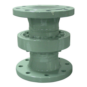 Emco Wheaton D2000 4 in. Style 20 Carbon Steel Swivel Joint w/ Standard Temp. Bearings, 150# Flanged Connections & Buna-N Seal - 13.2 in.