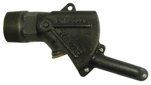 Syracuse Stamping Co. Cast Iron 3/4 in. Self-Closing Gate Faucet - 3/4 in. NPT Self Closing - Sheet Metal Short Handle