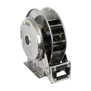Hannay Reels SSN700 Series Stainless Steel Spring Rewind Reel, Reel Only, 1/2 in. x 65 ft., SSN716-23-24-15.5G