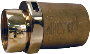 Dixon Powhatan Brass Double Female Spring Check Type Snoot - 3 in Female NPT x 3 in. Female NH (NST)