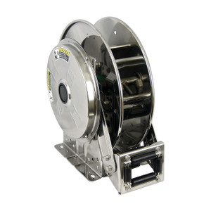 Hannay Reels SSN700 Series Stainless Steel Spring Rewind Reel, Reel Only, 1/2 in. x 100 ft., SSN718-25-26-15.5G