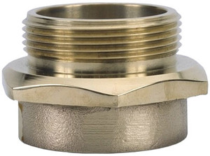 Dixon Powhatan 2 1/2 in. Female NPT x 2 1/2 in. Male NYC Brass (Open Snoot) Single Male Outlet with Hex