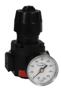 Dixon Wilkerson 1/4 in. R16 Compact Regulator With Gauge