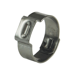 Dixon 1 3/16 in. 304 Stainless Steel Pinch-On Single Ear Clamp - 100 QTY