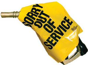 'Out of Service' Nozzle Cover (Yellow) - 12 Pack
