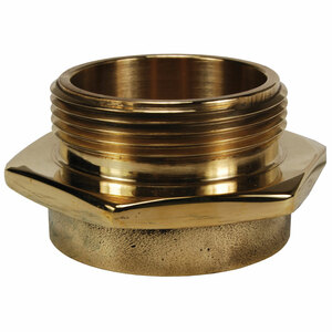 Dixon Powhatan 3 in. Female NPT x 3 in. Male NH (NST) Brass (Open Snoot) Single Male Outlet with Hex