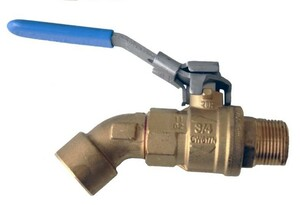 Morrison Bros. 1 in. M x 1 in. F Barrel Faucet Ball Valves - Angled