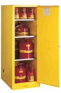 Justrite Slimline Style Sure-Grip® EX 54 Gallon Safety Cabinet - Self-Closing